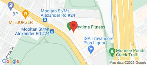 Location map for 326/68 Mt Alexander Road Travancore