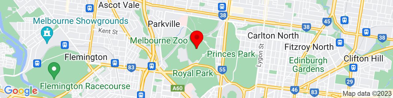 Google Map of -37.78431666666666, 144.95177777777778