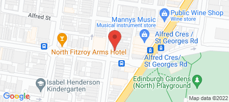 Location map for 706 Brunswick Street North Fitzroy North