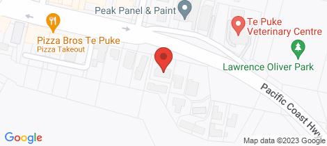 Location map for 11a Jellicoe Street Te Puke