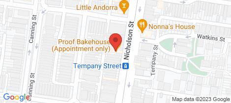 Location map for 531 Nicholson Street Carlton North