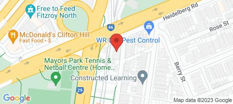 Location map for 3/56 John Street Clifton Hill
