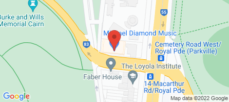 Location map for 23/2 MacArthur Road Parkville