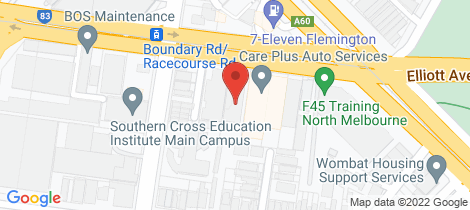 Location map for 105/33-39 Racecourse Road North Melbourne
