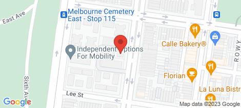 Location map for 22/635 Drummond Street Carlton North