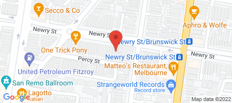 Location map for 42 Newry Street Fitzroy North
