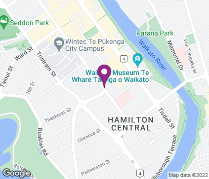 Map of Anglesea Medical Centre, Corner Anglesea and Thackeray St in Hamilton