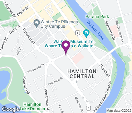 Map of Cnr Anglesea and Thackeray Streets in Hamilton