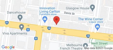Location map for 106 Princes Street Carlton