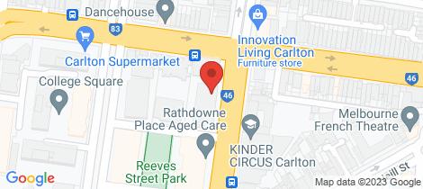 Location map for 204/545 Rathdowne Carlton