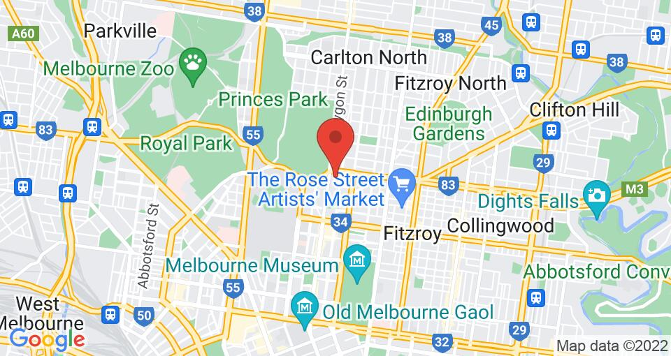 Google Map of College Square on Lygon