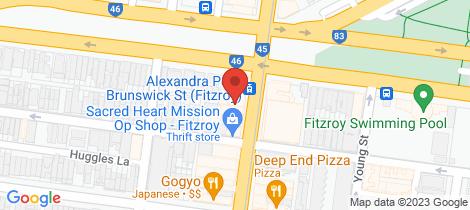 Location map for 4/45 Brunswick  Street Fitzroy