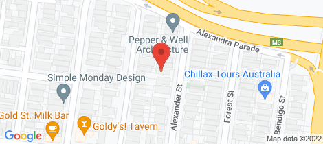 Location map for 1/17 Alexander Street Collingwood