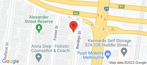 Location map for 8/19 Bendigo Street Collingwood