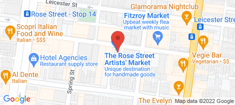 Location map for 54-60 Rose Street Fitzroy