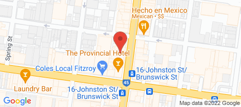 Location map for 307 Brunswick Street Fitzroy
