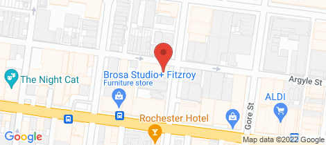 Location map for 103/176 Argyle Street Fitzroy