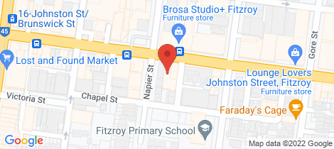 Location map for 403/182 Johnston  Street Fitzroy