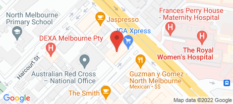 Location map for 720/55 Villiers Street North Melbourne