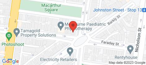 Location map for 56 Faraday Street Carlton