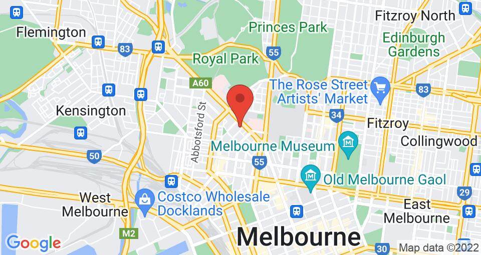 Google Map of UniLodge on Villiers - Student Accommodation Melbourne