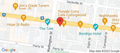 Location map for US 81 Johnston Street Collingwood