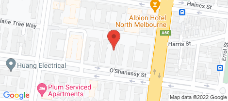 Location map for 24/60 O'shanassy Street North Melbourne