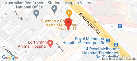 Location map for 508/3-11 High Street North Melbourne