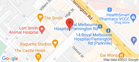Location map for 205/33 Wreckyn Street North Melbourne