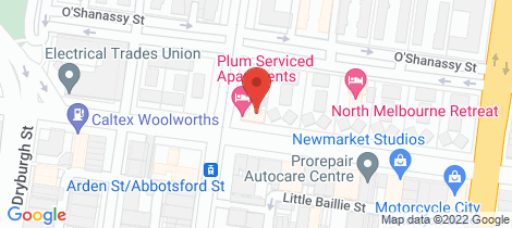 Location map for 3/168 Arden Street North Melbourne