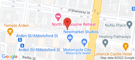 Location map for C1-3/120 Arden Street North Melbourne
