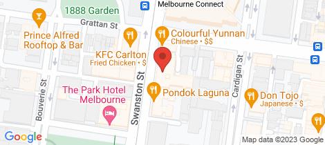 Location map for 705/668 Swanston Street Carlton