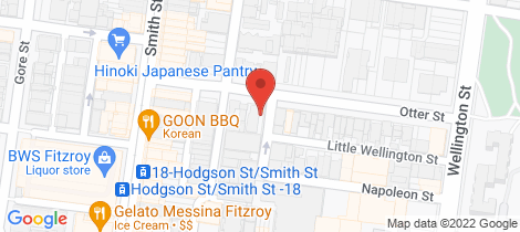Location map for 5/9-11 Otter Street Collingwood