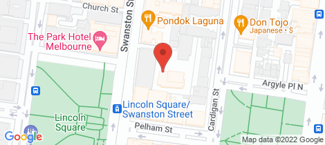 Location map for 703A/640 Swanston Street Carlton
