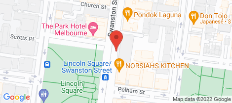 Location map for 803D/604 Swanston Street Carlton