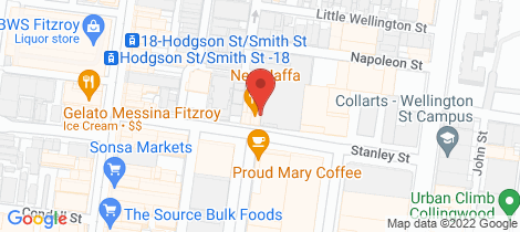 Location map for 303/34-44 Stanley  Street Collingwood