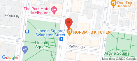 Location map for 1009D/604 Swanston Street Carlton