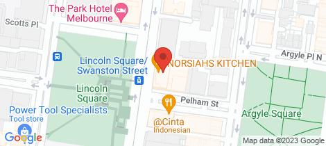 Location map for 512D/604 Swanston Street Carlton