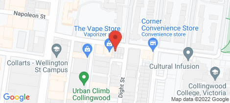 Location map for 23 Vere Street Collingwood