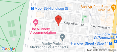 Location map for 34/32 King William Street Fitzroy