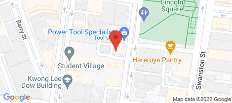 Location map for 604/139 Bouverie Street Carlton