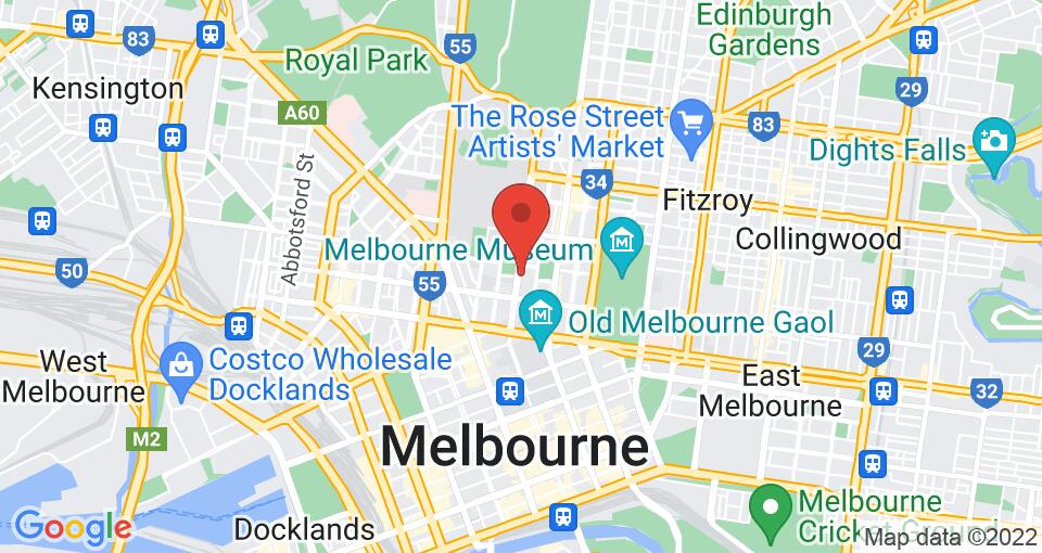 Google Map of UniLodge 570 Swanston St