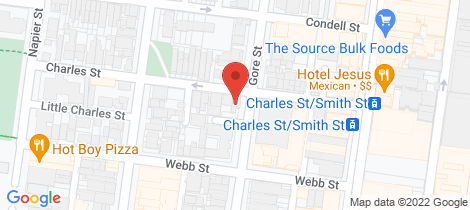 Location map for 86 Charles Street Fitzroy
