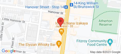 Location map for 1/35 Brunswick  Street Fitzroy