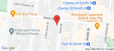 Location map for 159 Gore Street Fitzroy