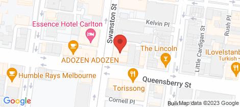 Location map for 321/528 Swanston Street Carlton