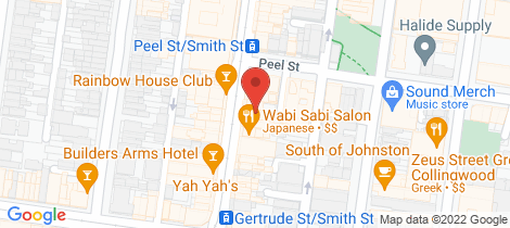 Location map for 2/102 Smith Street Collingwood