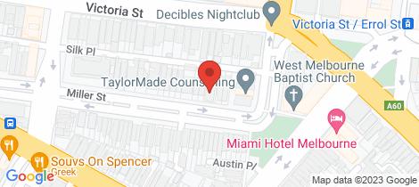 Location map for 3/18-20 Miller Street West Melbourne