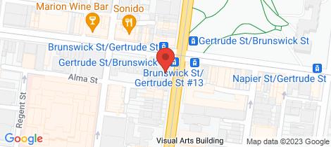 Location map for 2/45 Brunswick  Street Fitzroy