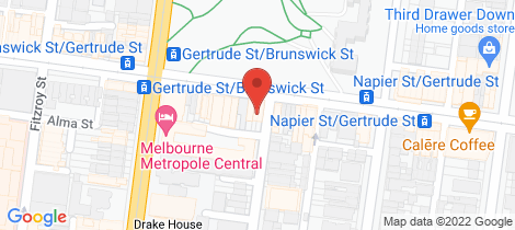 Location map for US 118 Gertrude Street Fitzroy